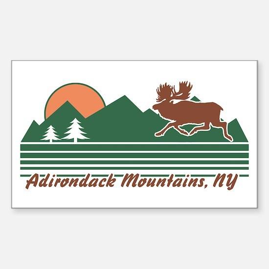 Adirondack Mountains NY Sticker (Rectangle)