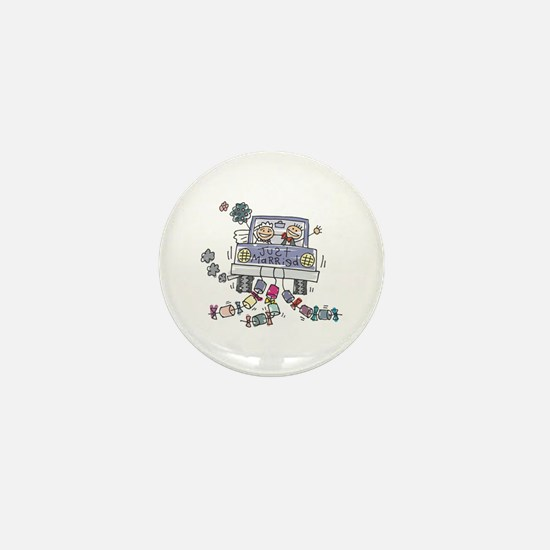 Just Married Car Mini Button