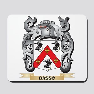 Basso Family Crest - Basso Coat of Arms Mousepad