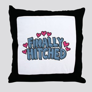Finally Hitched Throw Pillow