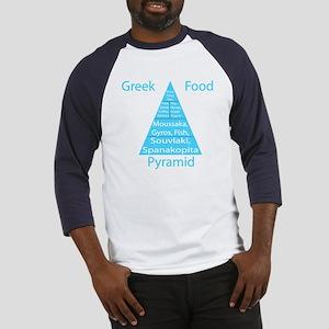 Greek Food Pyramid Baseball Jersey