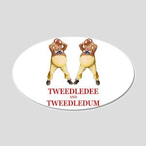 Tweedledee and Tweedledum 22x14 Oval Wall Peel