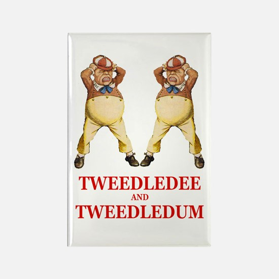 Tweedledee and Tweedledum Rectangle Magnet