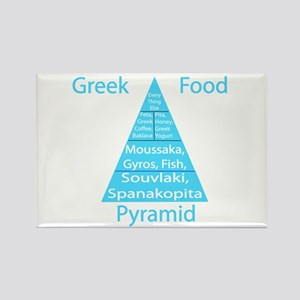 Greek Food Pyramid Rectangle Magnet