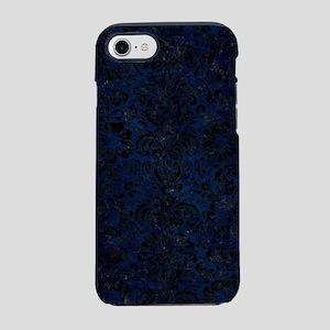 DAMASK2 BLACK MARBLE & BLUE GR iPhone 7 Tough Case