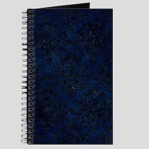 DAMASK1 BLACK MARBLE & BLUE GRUNGE (R) Journal