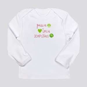 Peace, Love and Zombies Long Sleeve Infant T-Shirt