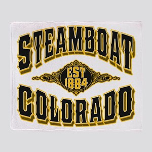 Steamboat Colorado Old Gold Throw Blanket