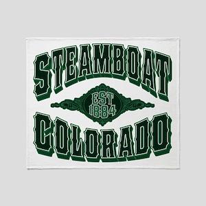 Steamboat Colorado Money Shot Throw Blanket