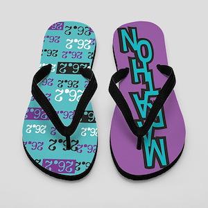 26.2 Marathon PURPLE TURQUOISE Flip Flops