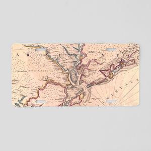 Vintage Map of South Caroli Aluminum License Plate