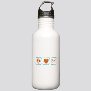 Peace, Love and Lacrosse Stainless Water Bottle 1.