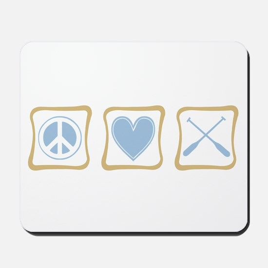 Peace, Love and Rowing Mousepad