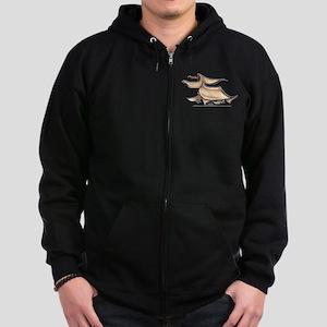 Afghan Hound Lover Zip Hoodie (dark)