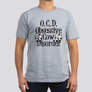 Obsessive Cow Disorder Men's Fitted T-Shirt (dark)