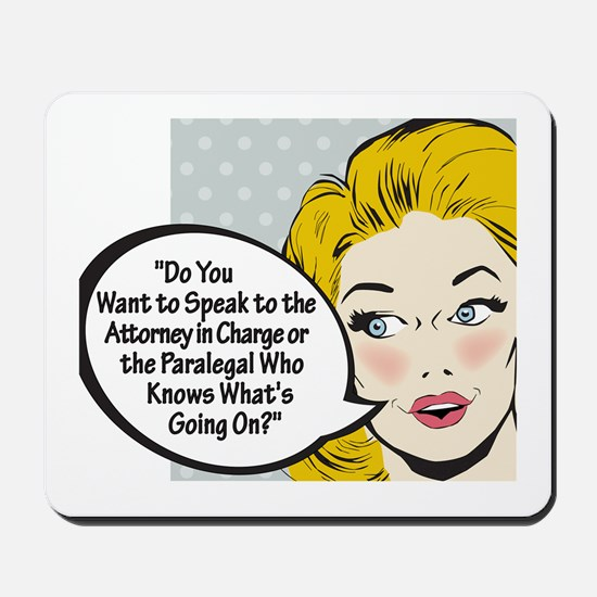 Paralegal In Charge [Toon Edi Mousepad