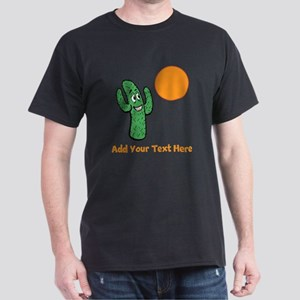 Cacti in the Sun. With Text. Dark T-Shirt