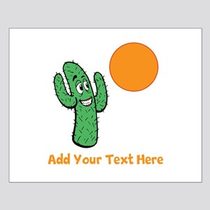 Cacti in the Sun. With Text. Small Poster