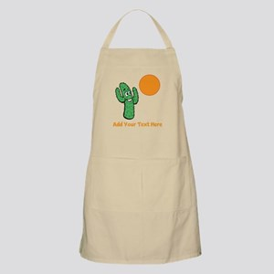 Cacti in the Sun. With Text. Apron
