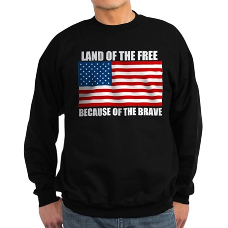 Because of the Brave Sweatshirt (dark)
