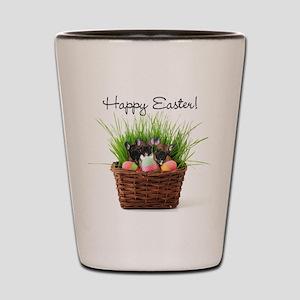 Easter french bulldogs Shot Glass