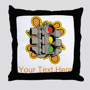 Traffic Lights and Writing. Throw Pillow