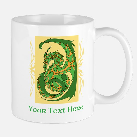 Fancy Dragon and Custom Text Mug