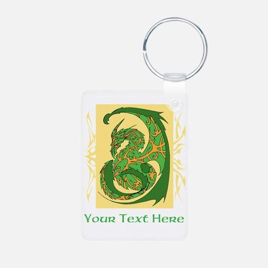 Fancy Dragon and Custom Text Keychains