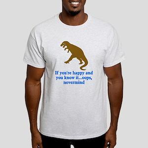 T Rex Can't Clap Hands Light T-Shirt