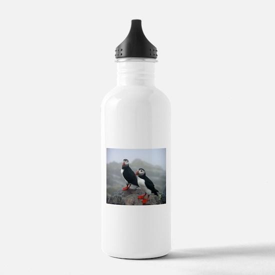 Puffins Keeping Watch Water Bottle