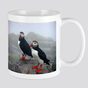 Puffins Keeping Watch Mug