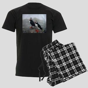 Puffins Keeping Watch Men's Dark Pajamas