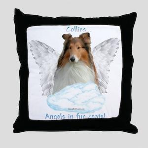 Collie 5 Throw Pillow
