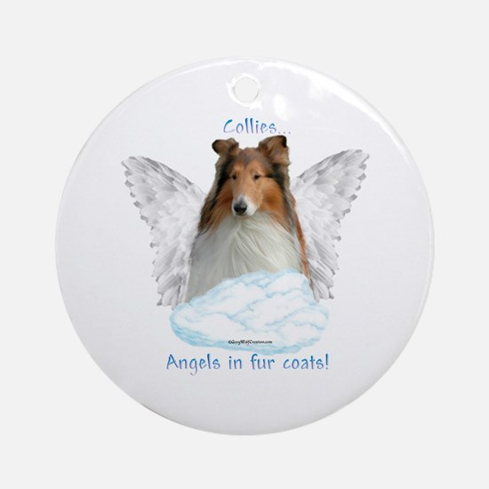 Collie 5 Ornament (Round)