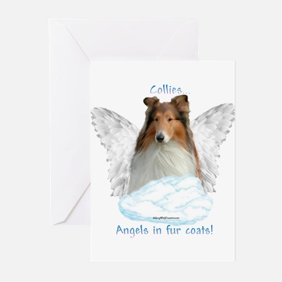 Collie 5 Greeting Cards (Pk of 10)