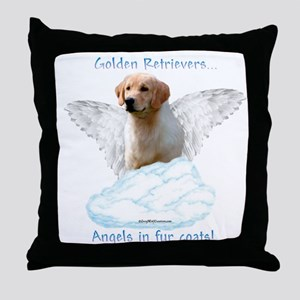 Golden 7 Throw Pillow