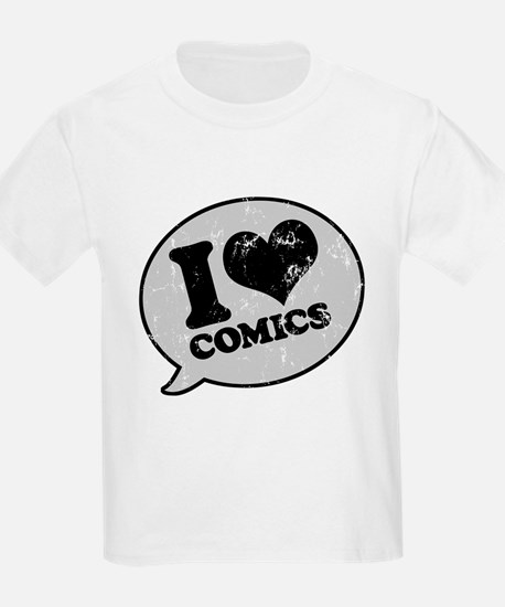 I Love Comics Kids T-Shirt