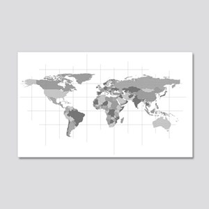 World Map 20x12 Wall Decal
