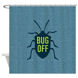 Bug Off Shower Curtains