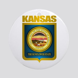 """Kansas Gold"" Ornament (Round)"
