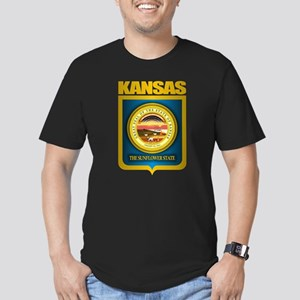"""Kansas Gold"" Men's Fitted T-Shirt (dark)"