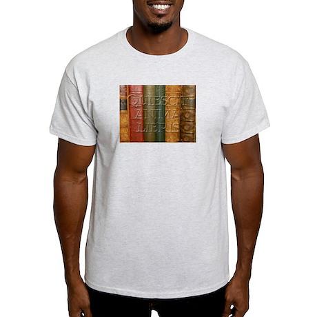 """""""Quiescit Anima Libris"""" Ash Grey T-Shirt"""