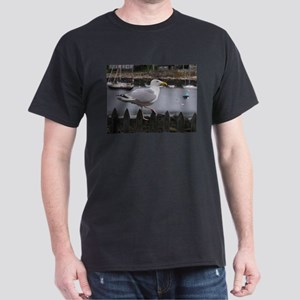 Gull on Fence Dark T-Shirt