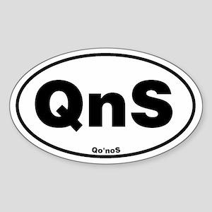 Qo'noS Euroval Sticker