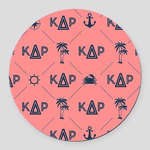 KDR Coral Pattern Round Car Magnet