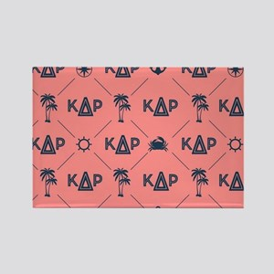 KDR Coral Pattern Rectangle Magnet
