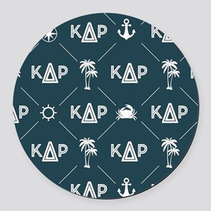 KDR Blue Pattern Round Car Magnet
