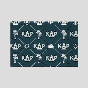 KDR Blue Pattern Rectangle Magnet