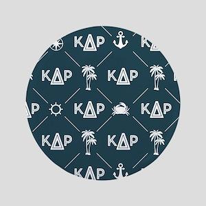 KDR Blue Pattern Button