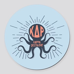 Kappa Delta Rho Octopus Round Car Magnet
